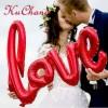 Надпись красная LOVE 80 см.