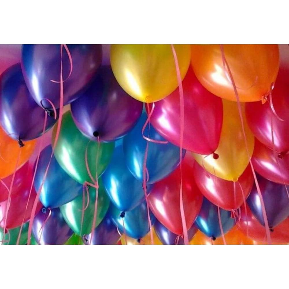 Разноцветные металлизированные шары