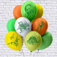 Динозавры. Сет из 10 шаров.